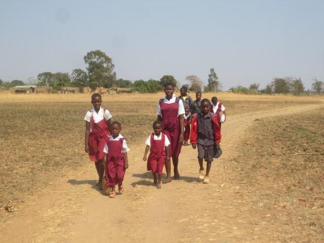 Kinderen weg oversteken