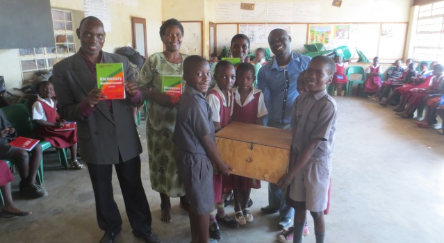 Dictionaries donated to Kasungu Demonstration Primary School